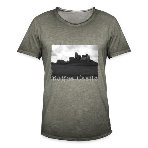 Duffus Castle #1 - Männer Vintage T-Shirt