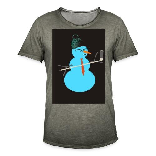 Hockey snowman - Miesten vintage t-paita