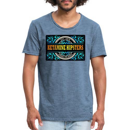 Black Vintage - KETAMINE HIPSTERS Apparel - Men's Vintage T-Shirt