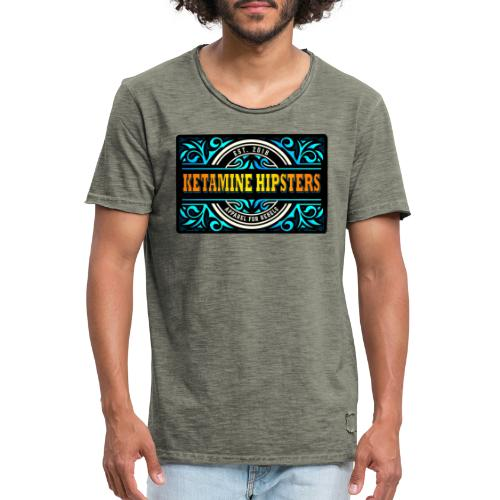 Black Vintage - KETAMINE HIPSTERS Apparel - Men's Vintage T-Shirt