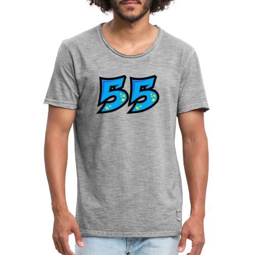 graf55blue - Miesten vintage t-paita