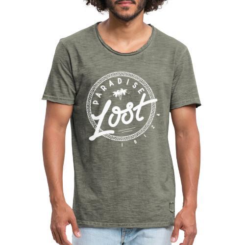 Paradise Lost Ibiza - White Logo - Men's Vintage T-Shirt
