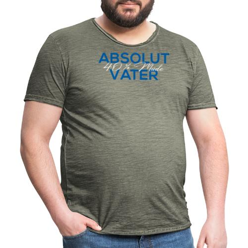 Abolut Vater für Männer 40 % Müde Vatertag - Männer Vintage T-Shirt