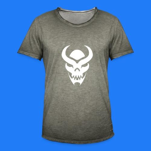 TRIBAL SKULL BLANC - T-shirt vintage Homme