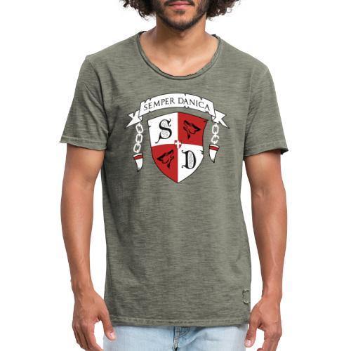 SD logo - hvide lænker - Herre vintage T-shirt