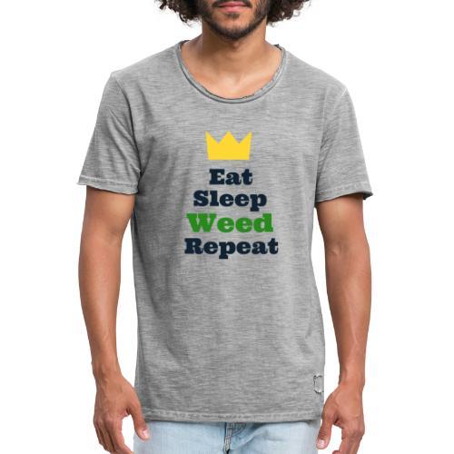 Eat Sleep Weed Repeat Tees by SeSQoOo - Men's Vintage T-Shirt