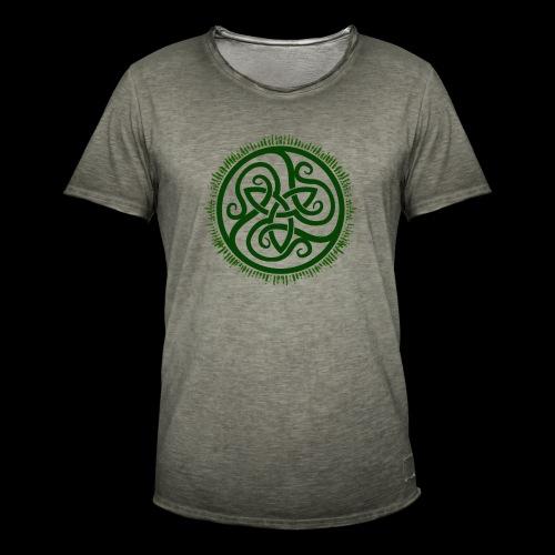 Green Celtic Triknot - Men's Vintage T-Shirt