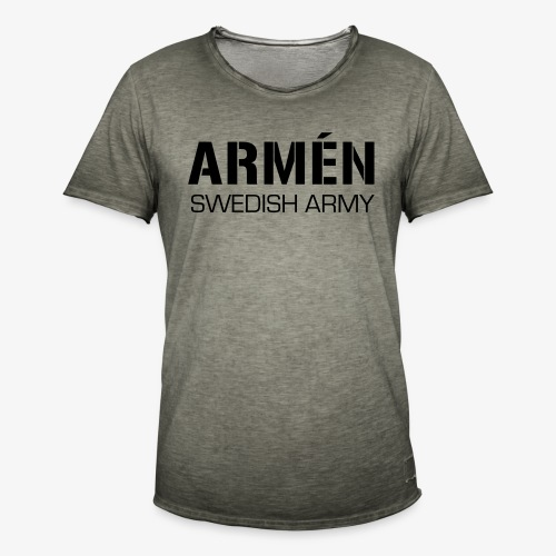 ARMÉN -Swedish Army - Vintage-T-shirt herr