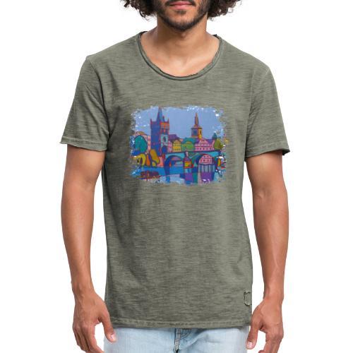 Prag - Männer Vintage T-Shirt