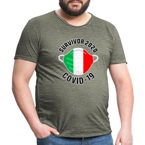 survivor covid 19 italia - Camiseta vintage hombre
