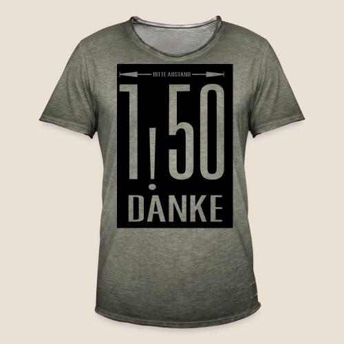 Bitte Abstand - Männer Vintage T-Shirt