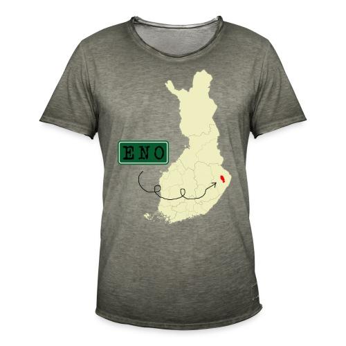 Maantieteellinen infopaketti - Miesten vintage t-paita