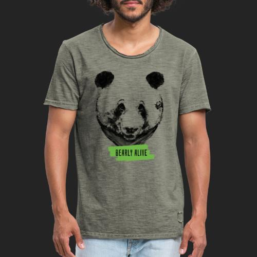 Panda bearly alive - T-shirt vintage Homme