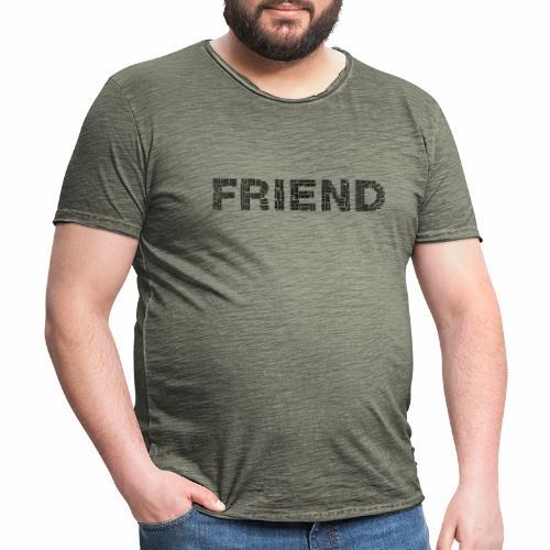 Przyjaciel - Koszulka męska vintage