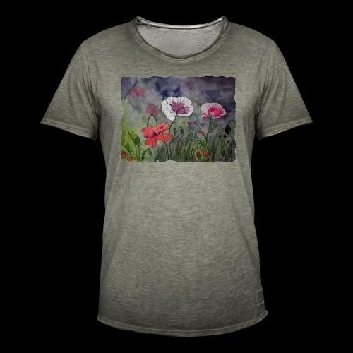 Mohnblume - Männer Vintage T-Shirt