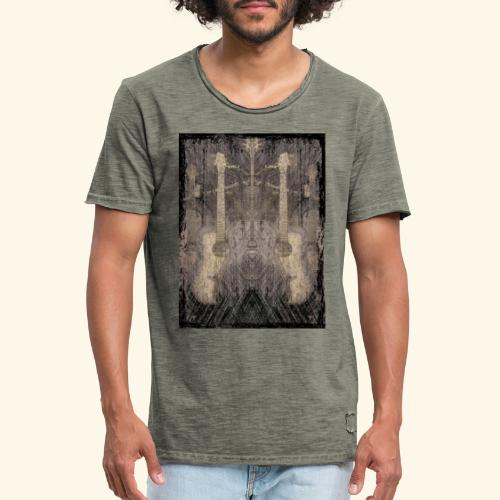 Mirrored Guitars - Männer Vintage T-Shirt