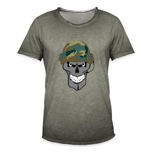 craneo militar - Camiseta vintage hombre