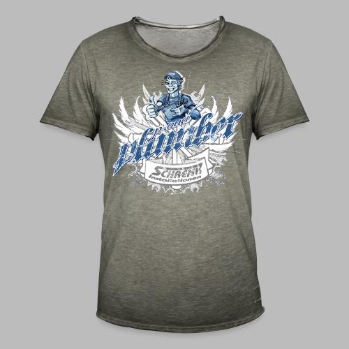 ProudPlumberPatch 2020 / Logo-Druck - Männer Vintage T-Shirt