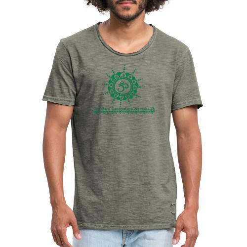 Ganesha Mantra OM Symbol Yoga Tshirt Hoodie - Männer Vintage T-Shirt