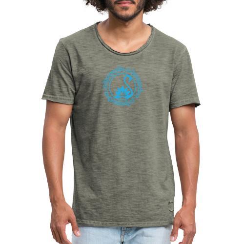 Sarasvati Mantra in Sanskrit Yoga Motiv Yogawear - Männer Vintage T-Shirt