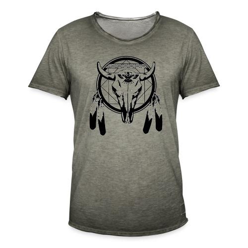 bull skull - Männer Vintage T-Shirt