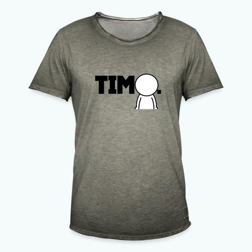 Design met ventje - Mannen Vintage T-shirt