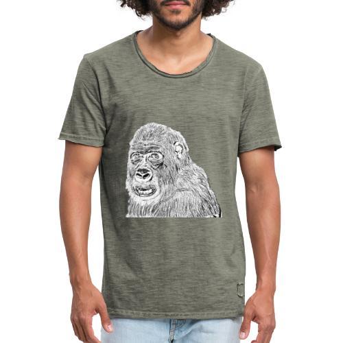 singe - T-shirt vintage Homme