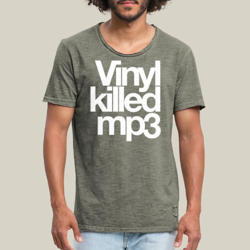 Vinyl_killed_mp3 - Miesten vintage t-paita