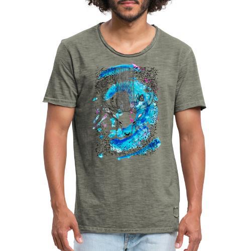 cerf aqua - T-shirt vintage Homme