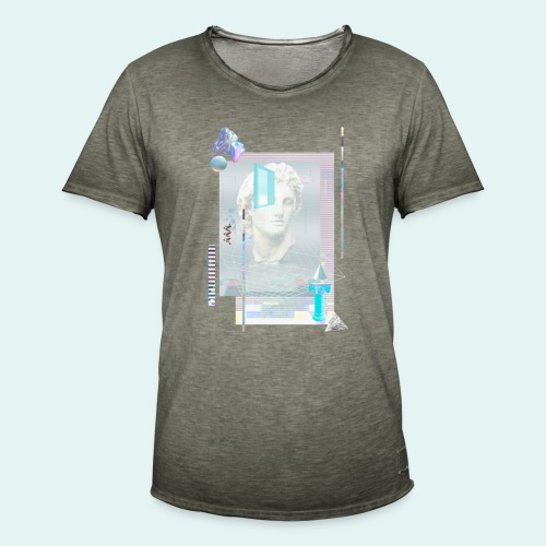Glitch art - Herre vintage T-shirt