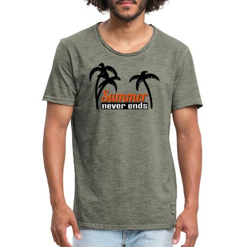 summer never end - Männer Vintage T-Shirt