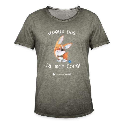 J'peux pas j'ai mon corgi - T-shirt vintage Homme