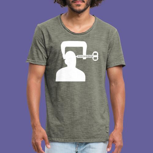Cluster headache in een bankschroef - T-shirt vintage Homme
