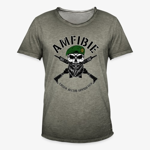 AMFIBIE - Korslagda Ak 5C - Vintage-T-shirt herr