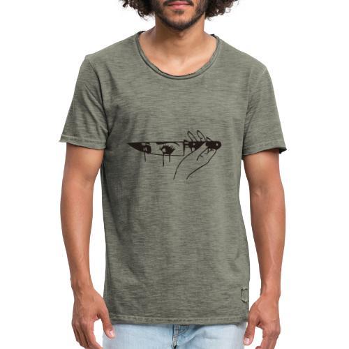 cuchillo - Camiseta vintage hombre