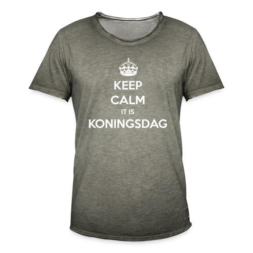 KEEP CALM IT IS KONINGSDAG - Mannen Vintage T-shirt