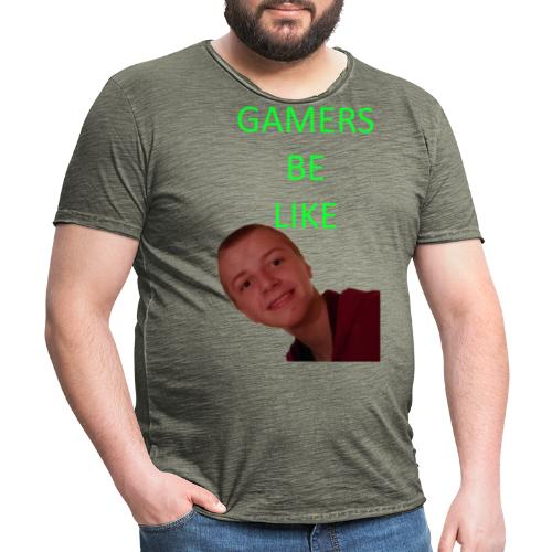 KrestenDesign 3 rå - Herre vintage T-shirt
