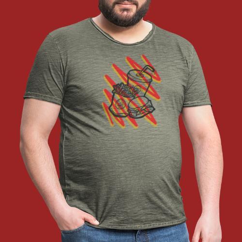 fastfoo-die - Maglietta vintage da uomo