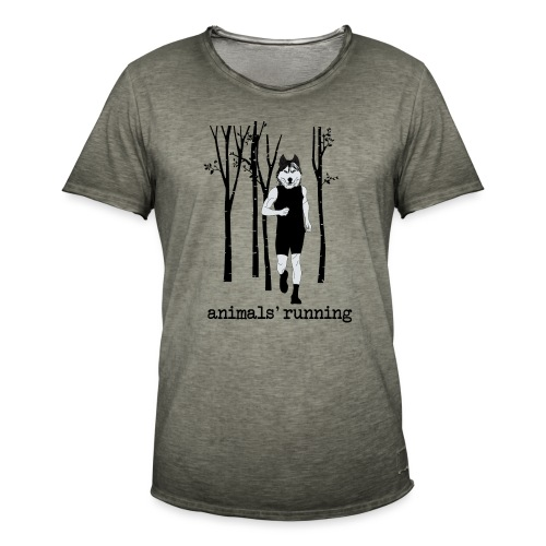 Loup running - T-shirt vintage Homme