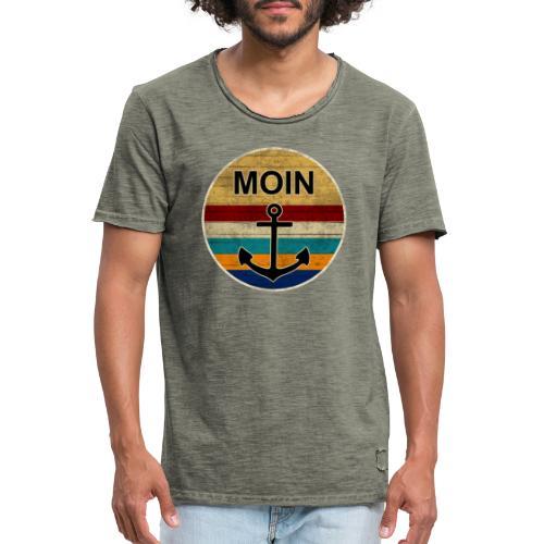 Moin Anker Retro - Männer Vintage T-Shirt