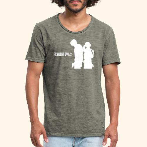 RE2 Leon Claire Logo Design - Men's Vintage T-Shirt