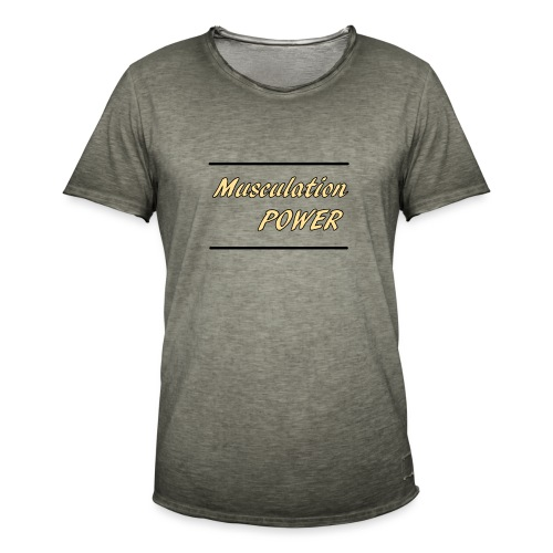 Musculation POWER HOMME - T-shirt vintage Homme