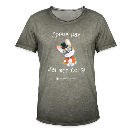 J'Peux pas jais mon corgi - T-shirt vintage Homme