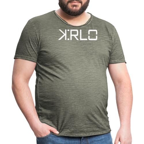 Kirlo Logo Blanco - Camiseta vintage hombre
