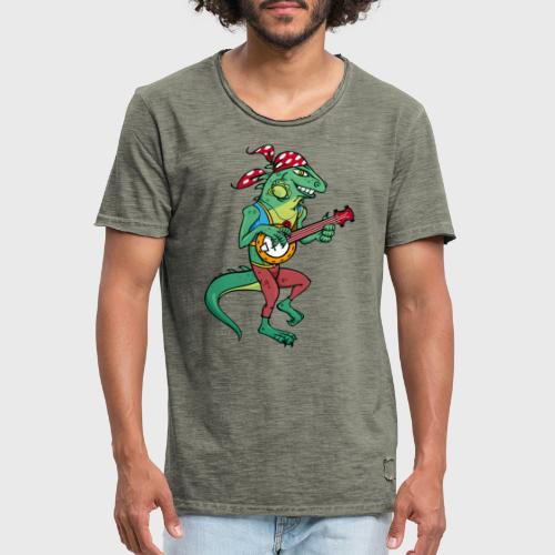 Tzigane iguane avec Banjo - T-shirt vintage Homme