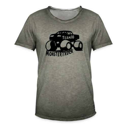 logo mtteam16 noir - T-shirt vintage Homme