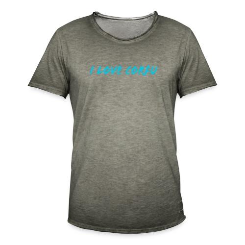 I Love Corfu Griechenland - Männer Vintage T-Shirt