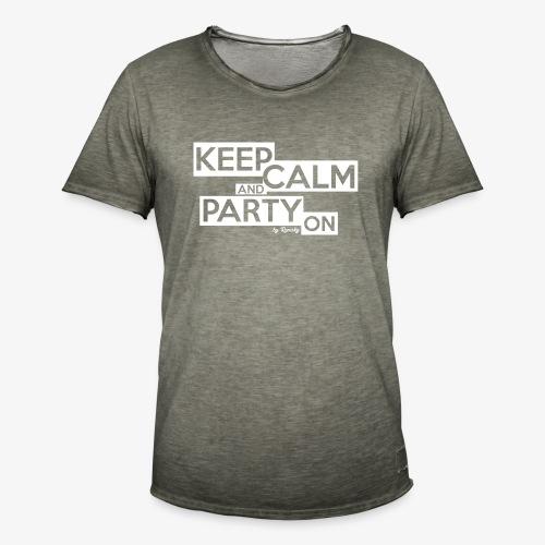 Blijf kalm - Mannen Vintage T-shirt