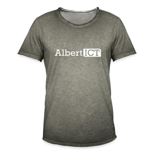 AlbertICT wit logo - Mannen Vintage T-shirt