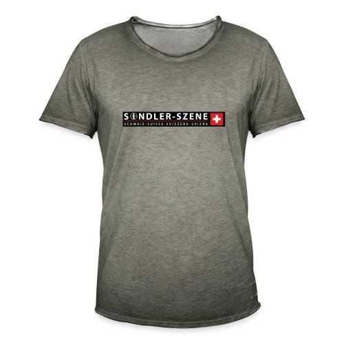 Logo schwarz - Männer Vintage T-Shirt
